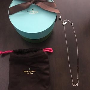 """Kate Spade """"mrs"""" necklace in silver"""